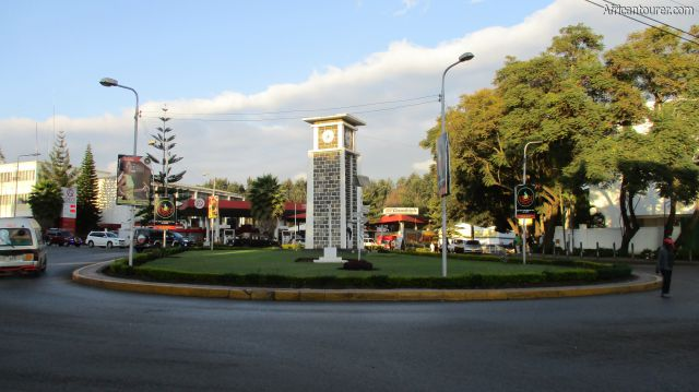 Arusha city,  the clock tower at dusk