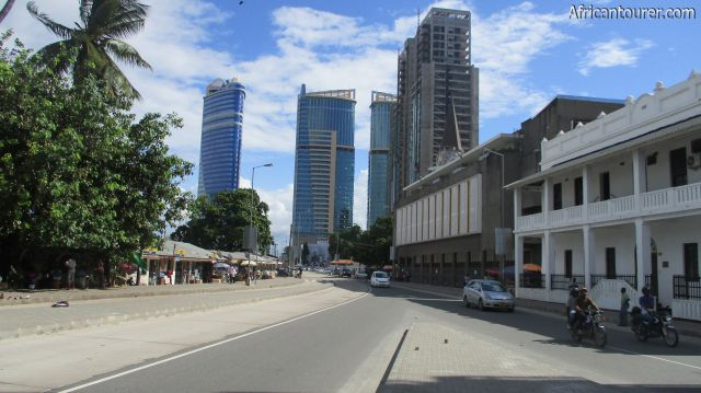 Dar Es Salaam region, the skyline of the central business district as seen from Sokoine dr. facing south east