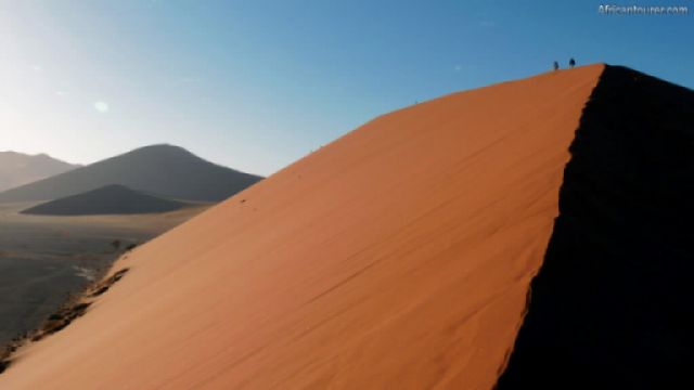 Dune 45 of Namib Naukluft National Park, the view from it at sunrise <sup>1</sup>