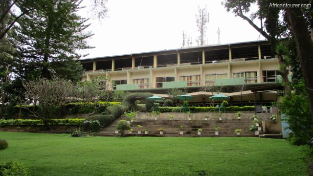 equator hotel, a view of the main building from the gardens
