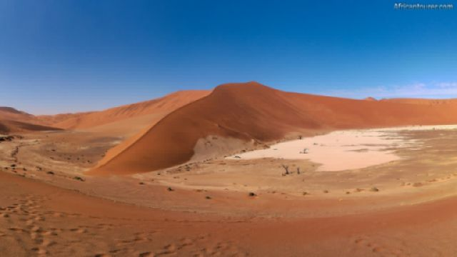 Hidden Vlei of Namib Naukluft national park, as seen from a sand dune north of it<sup>1</sup>