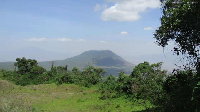 Kerimasi crater of Ngorongoro conservation area, as seen from the eastern crater rim of Empakaai