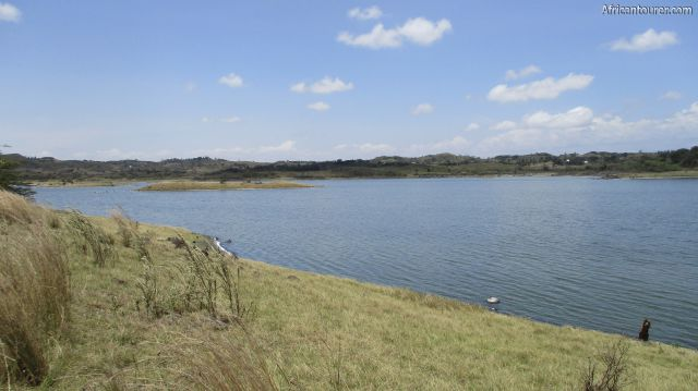 lake Big Momella of Arusha national park, as seen from the road circuit around it