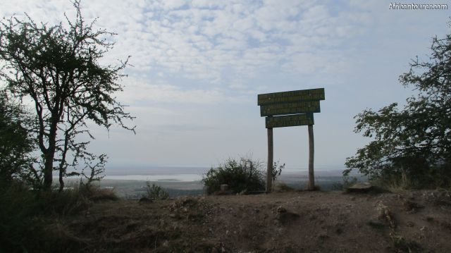 Lake Manyara national park's view point, with the guard rail slightly visible on the lower left of image