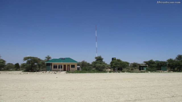 lake Ndutu airstrip of Ngorongoro conservation area, from left is the parking area, lounge, and the toilets