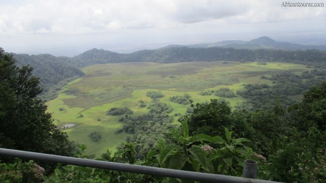 Leitong viewpoint Arusha national park, view of Ngurudoto crater from the guard rail onsite