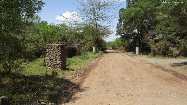 Momela gate of Arusha national park, one of the three security gates onsite with office area to the right (off view)