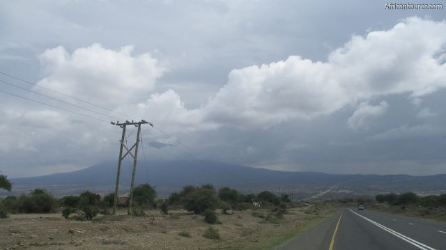 mount Hanang of Manyara region, in the distance as seen from the road coming from Singida