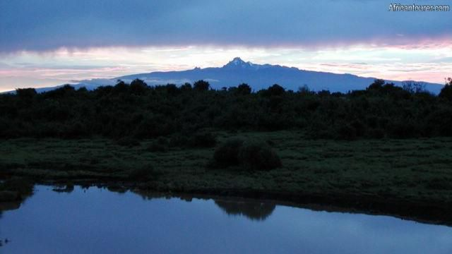 Mount Kenya national park, view from the west at sunrise [1]