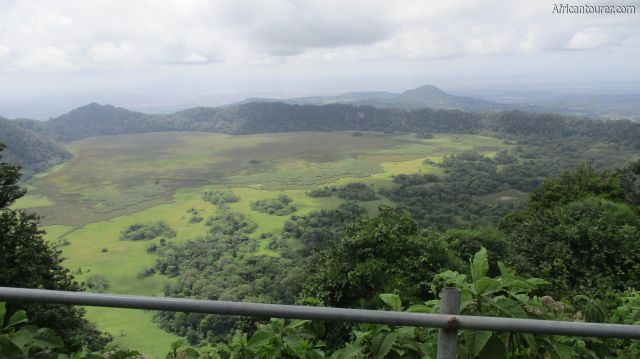 Ngurudoto crater of Arusha national park, as seen from the Leitong view point