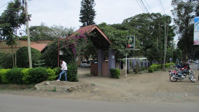 olduvai inn, a view from the outside standing on intersection of  Serengeti rd. and old Moshi rd.