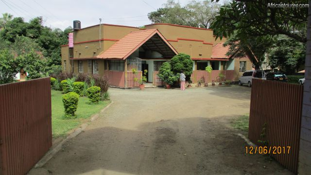 olduvai inn, a view from main entrance gate on the north east of compound