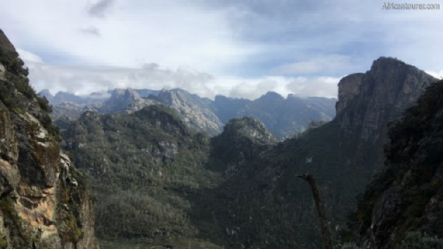 Rwenzori Mountains national park, some of its many craggy peaks <sup>1</sup>