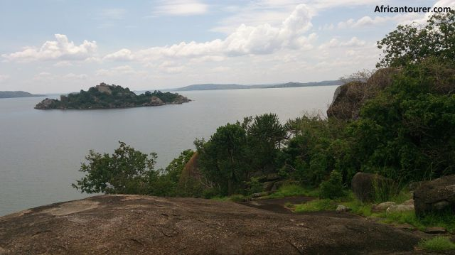 Saa Nane national park, view of nearby island and lake Victoria