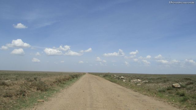 Serengeti national park, the scenery on the road from Naabi hill to Seronera