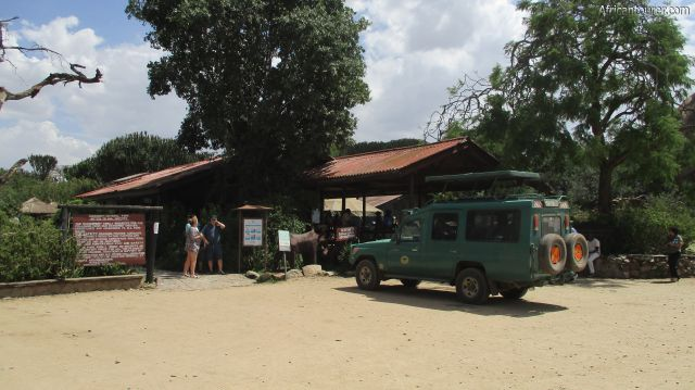 Seronera tourist information centre of Serengeti national park, a view from the front parking area