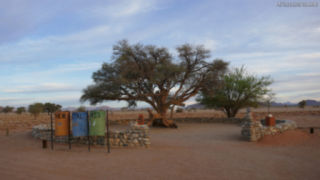 Sesriem campsite of Namib Naukluft national park, one of the campsites <sup>1</sup>