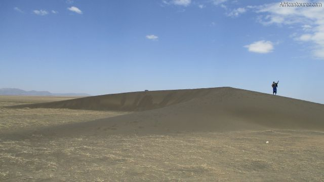 Shifting sands of Ngorongoro conservation area, as seen from the side (south)