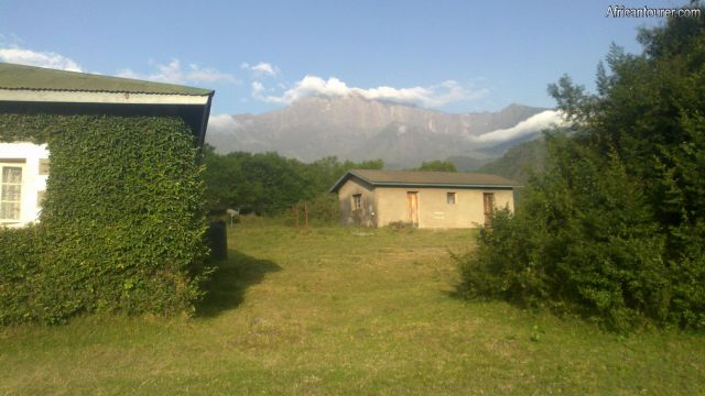 tanapa (arusha) rest house, with mt. Meru in the distance