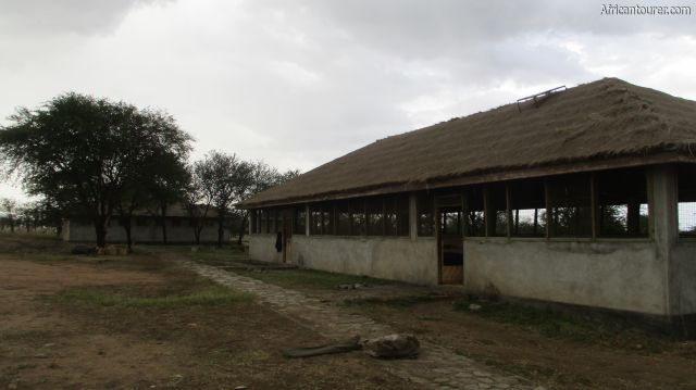 Tumbili campsite of Serengeti national park, from right - the kitchen and toilets