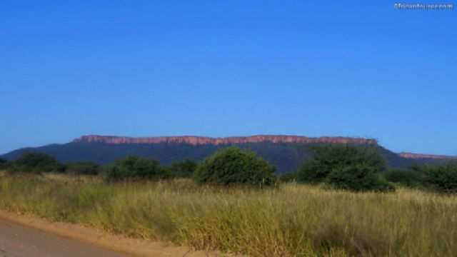 Waterberg Plateau national park, in the distance <sup>1</sup>